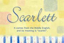 Name Scarlett