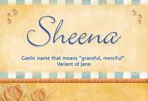 Name Sheena