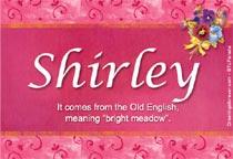 Name Shirley
