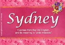 Name Sydney