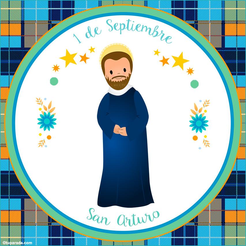 Tarjeta - Día de San Arturo, 1 de septiembre