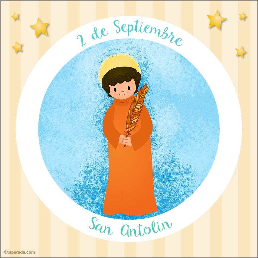 Tarjeta - Día de San Antolín, 2 de septiembre