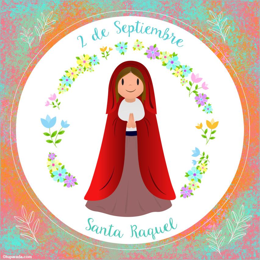 Tarjeta - Día de Santa Raquel, 2 de septiembre