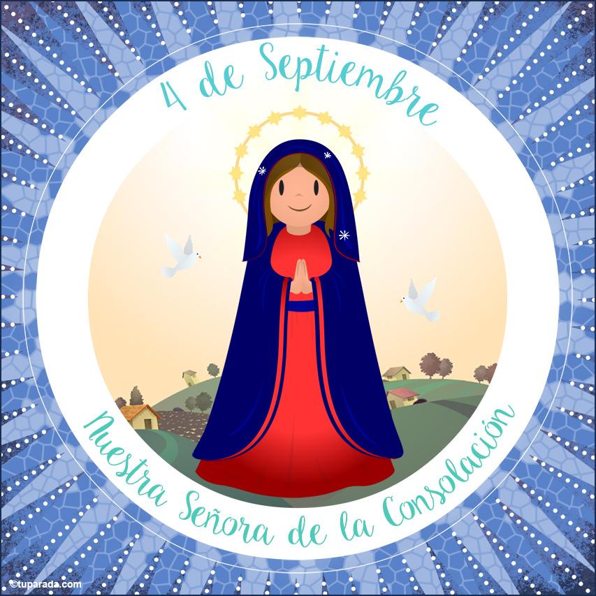 Tarjeta - Día de Nuestra Señora de la Consolación, 4 de septiembre