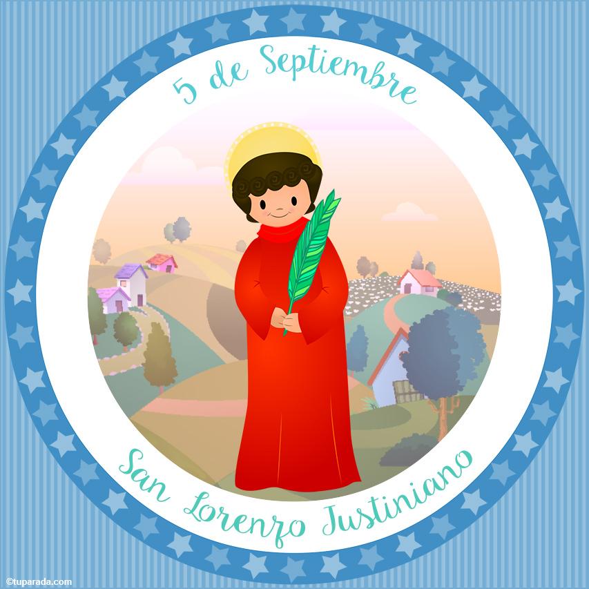Tarjeta - Día de San Lorenzo Justiniano, 5 de septiembre