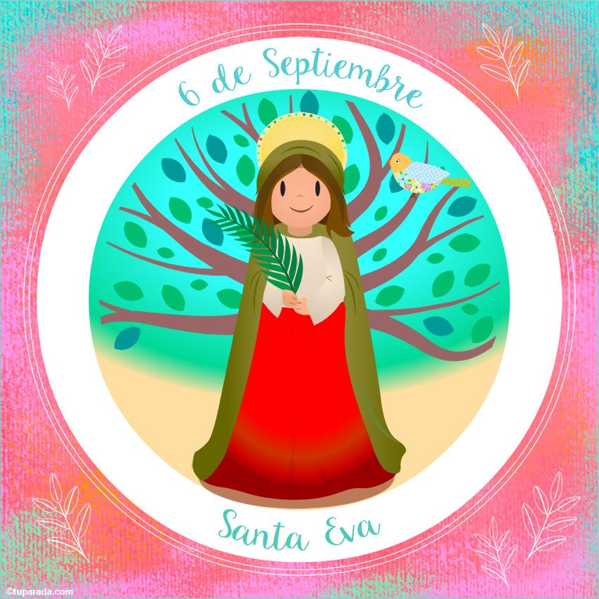 Tarjeta - Día de Santa Eva, 6 de septiembre