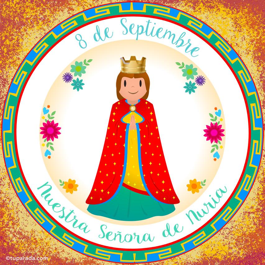 Tarjeta - Día de Nuestra Señora de Nuria, 8 de septiembre