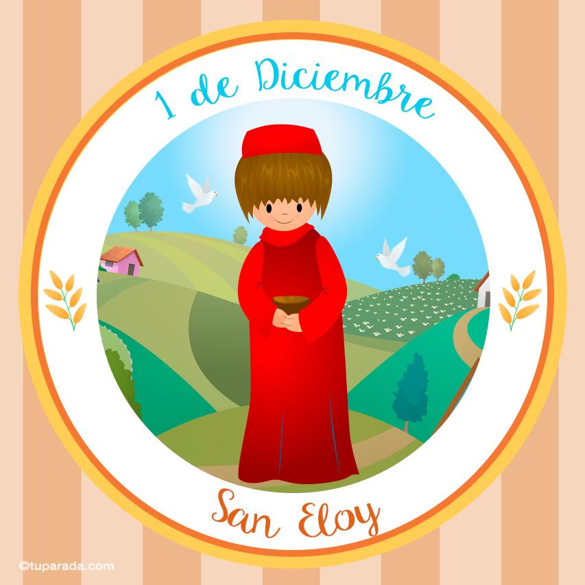 Tarjeta - Día de San Eloy, 1 de diciembre