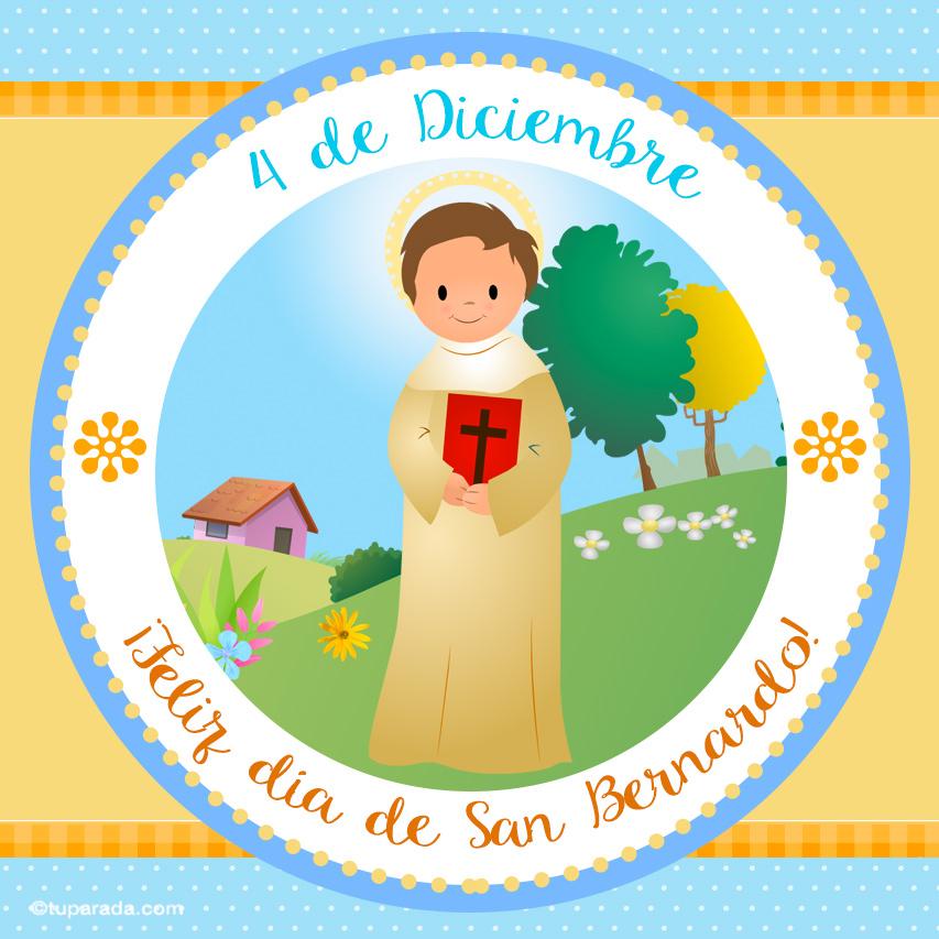 Tarjeta - Día de San Bernardo, 4 de diciembre
