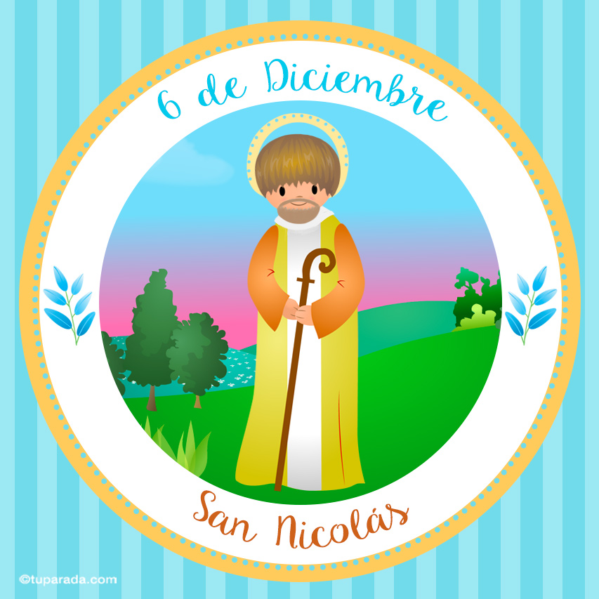Tarjeta - Día de San Nicolás, 6 de diciembre