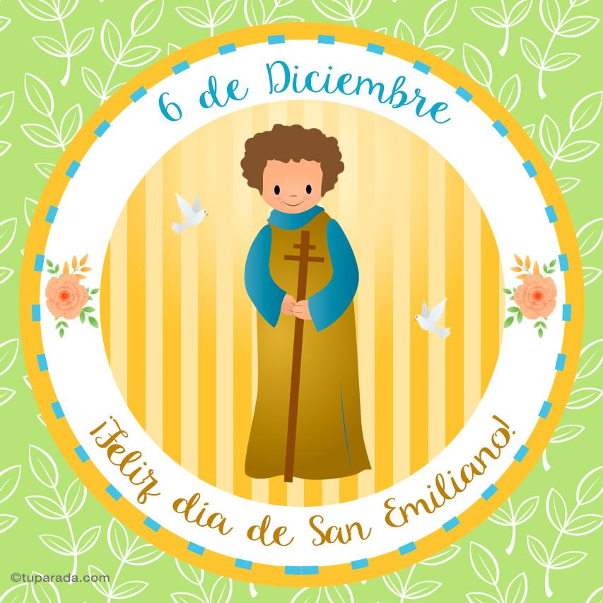 Tarjeta - Día de San Emiliano, 6 de diciembre