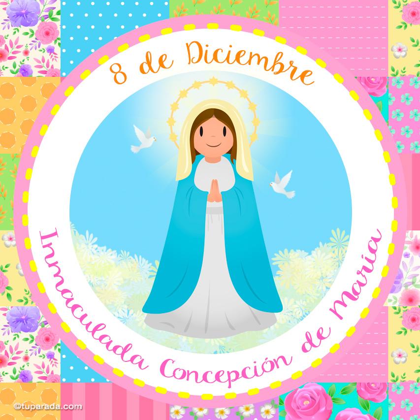 Tarjeta - Día de la Inmaculada Concepción de María, 8 de diciembre