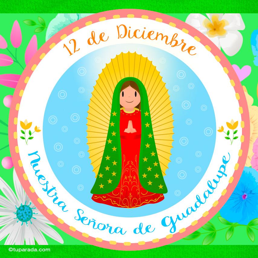 Tarjeta - Día de Nuestra Señora de Guadalupe, 12 de diciembre