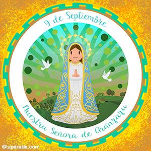 Nuestra Señora de Aránzazu, 9 de septiembre