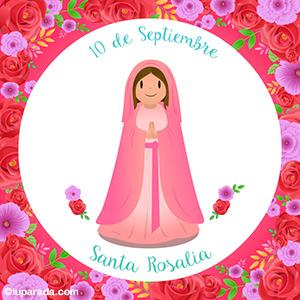 Día de Santa Rosalía, 10 de septiembre