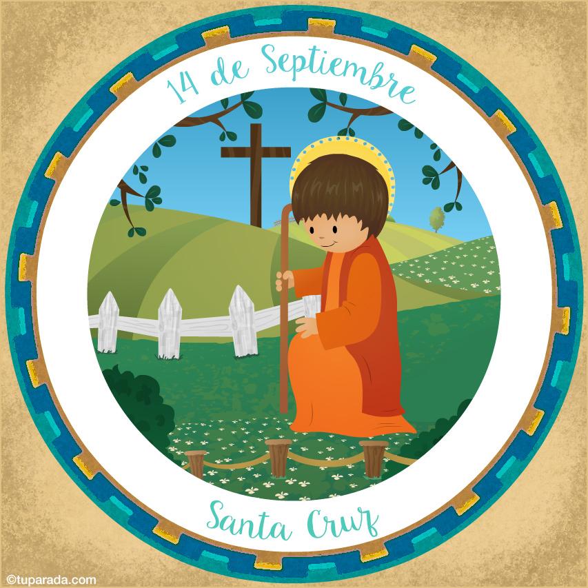 Tarjeta - Día de la Santa Cruz, 14 de Septiembre