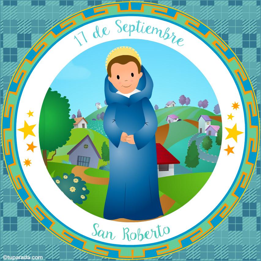 Tarjeta - Día de San Roberto, 17 de septiembre