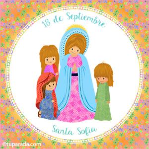 Día de Santa Sofía, 18 de septiembre