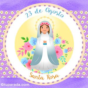 Día de Santa Rosa, 23 de agosto