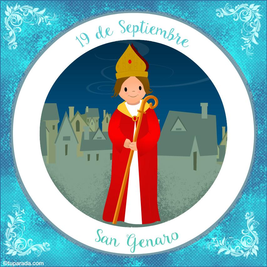 Tarjeta - Día de San Genaro, 19 de septiembre