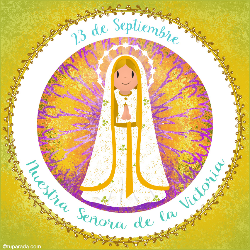 Tarjeta - Día de Nuestra Señora de la Victoria, 23 de septiembre