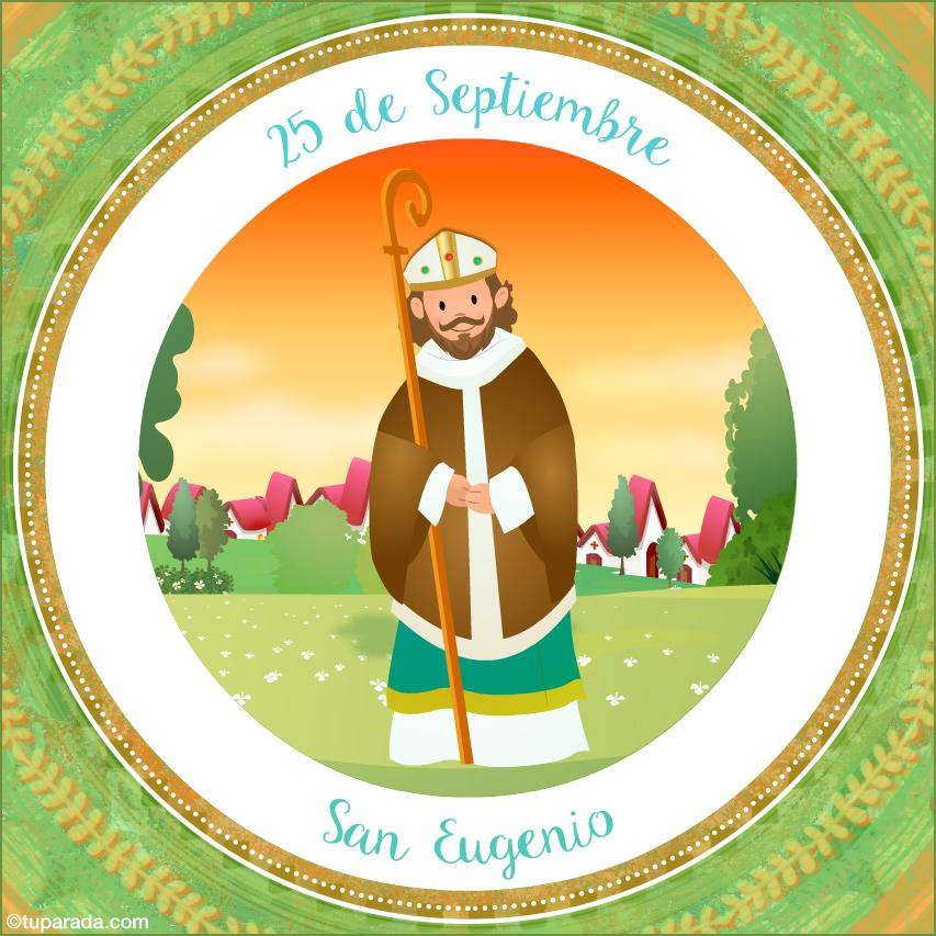 Tarjeta - Día de San Eugenio, 25 de septiembre