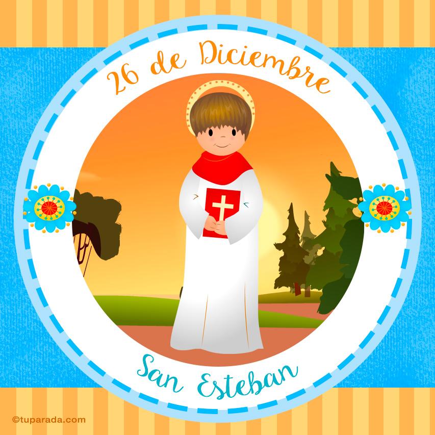 Tarjeta - Día de San Esteban, 26 de diciembre
