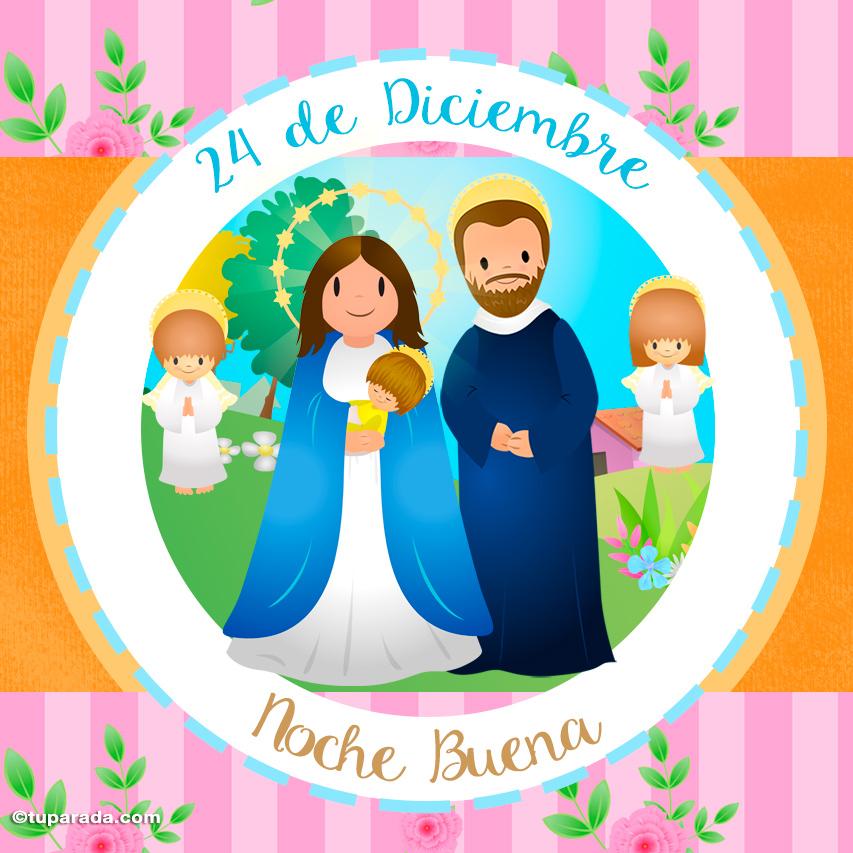 Tarjeta - Noche Buena, 24 de diciembre