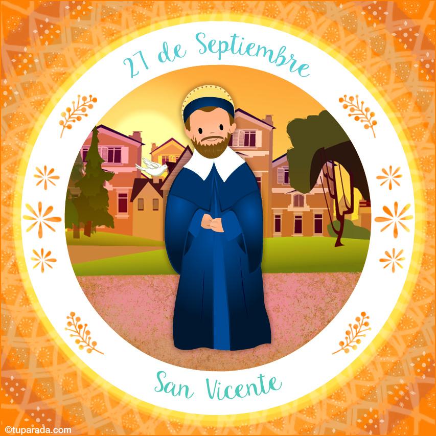 Tarjeta - Día de San Vicente, 27 de septiembre