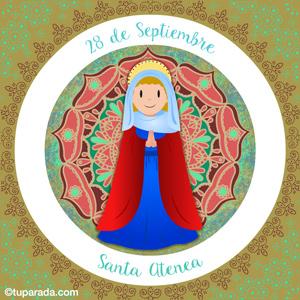 Día de Santa Atenea, 28 de septiembre