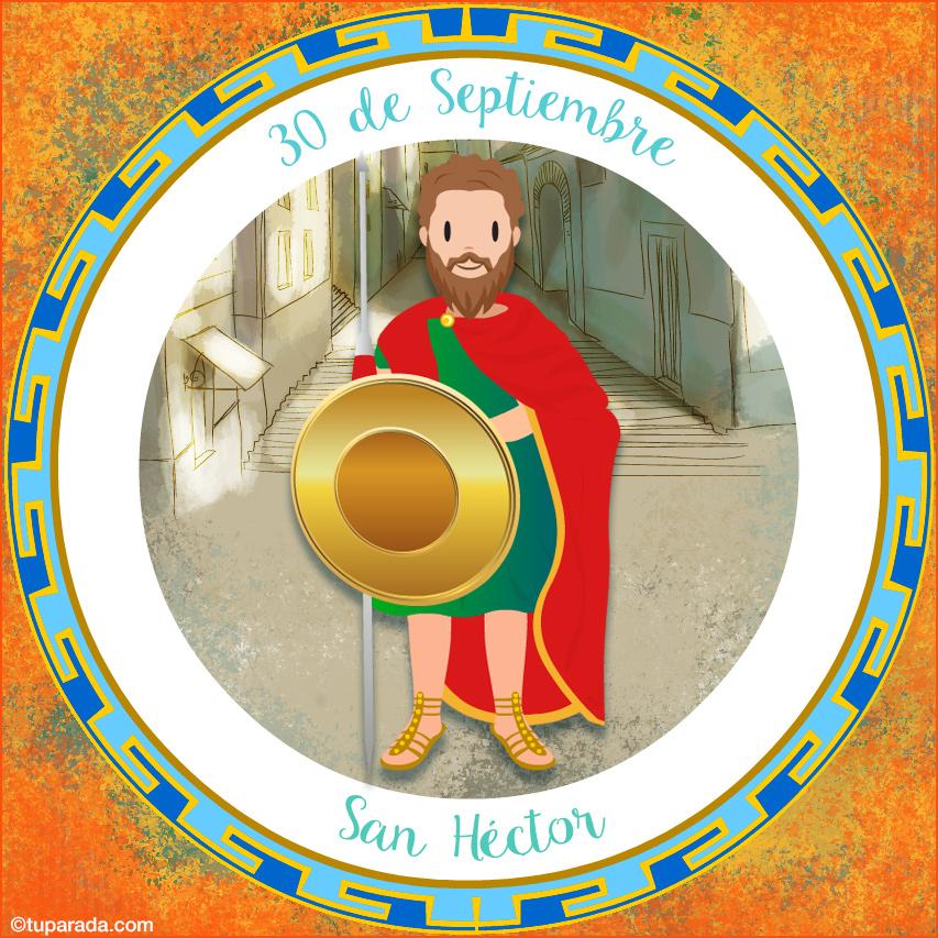 Tarjeta - Día de San Héctor, 30 de septiembre