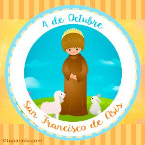 Día de San Francisco de Asís, 4 de octubre