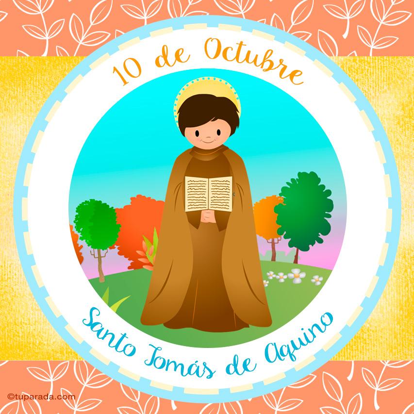 Ver fecha especial de Santo Tomás de Aquino
