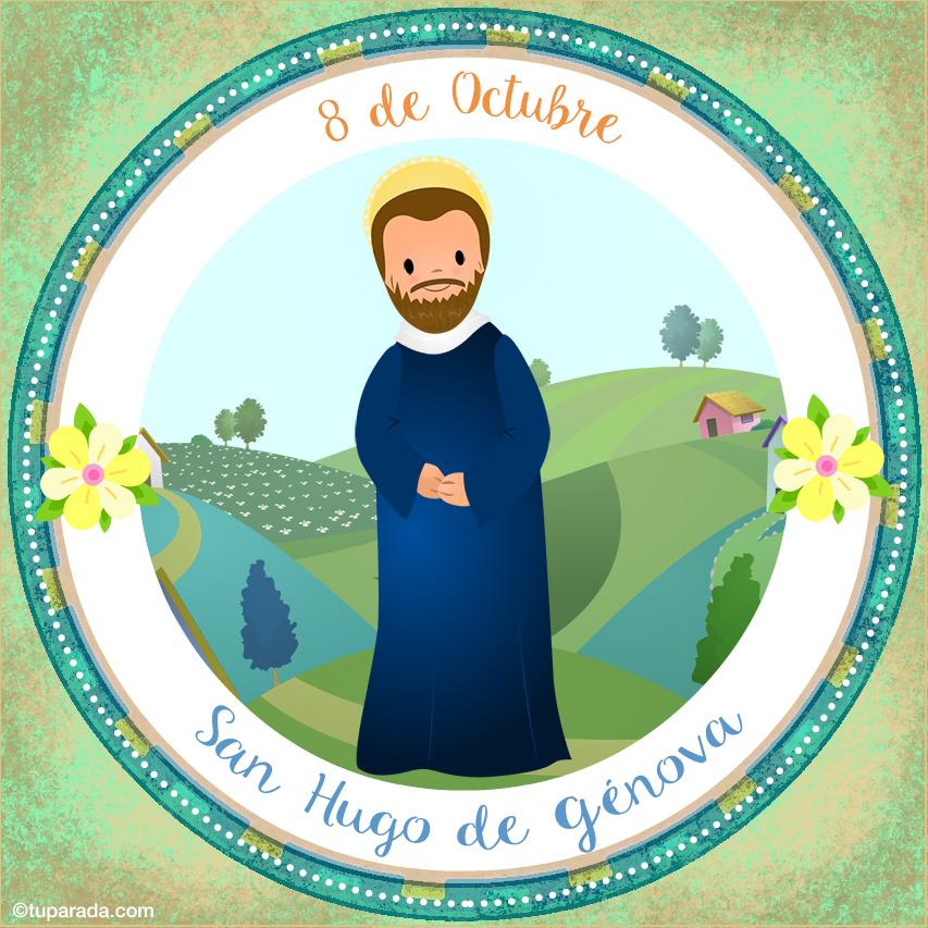 Tarjeta - Día de San Hugo de Génova, 8 de octubre