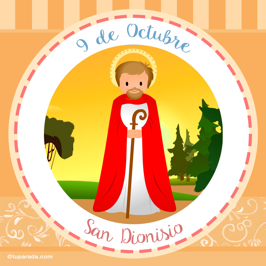 Tarjeta - Día de San Dionisio, 9 de octubre