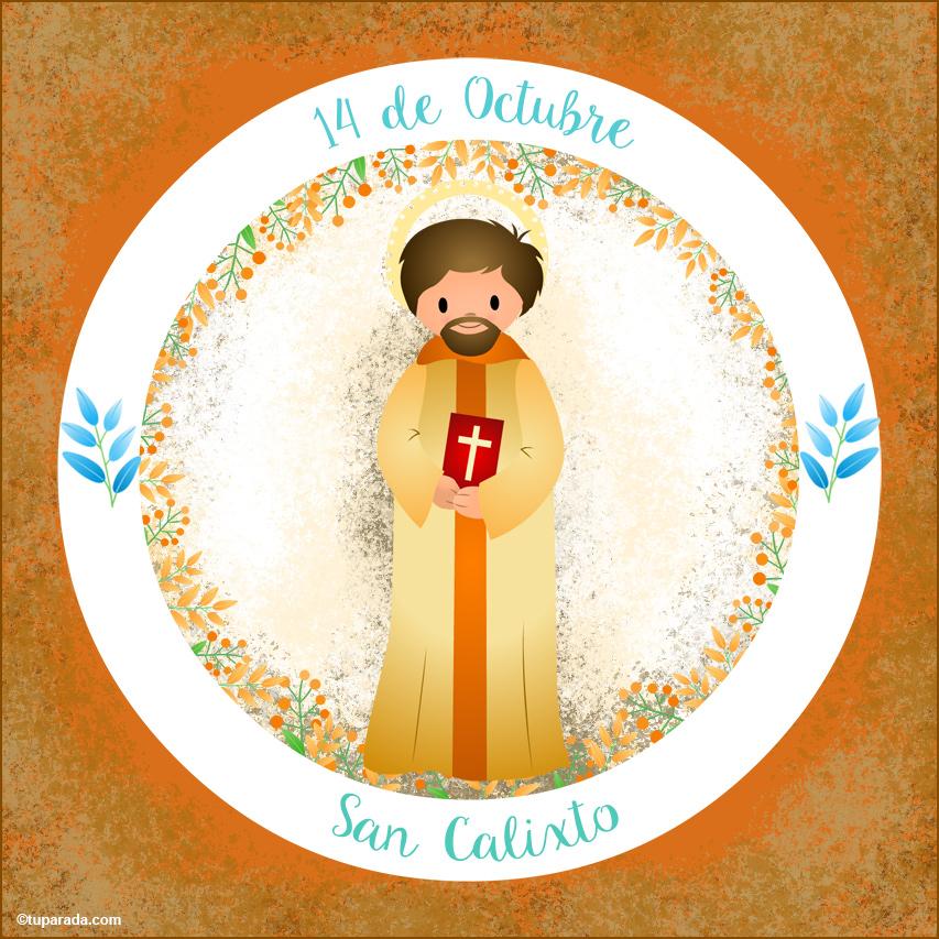 Tarjeta - Día de San Calixto, 14 de octubre