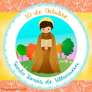 Día de Santo Tomás de Villanueva, 10 de octubre
