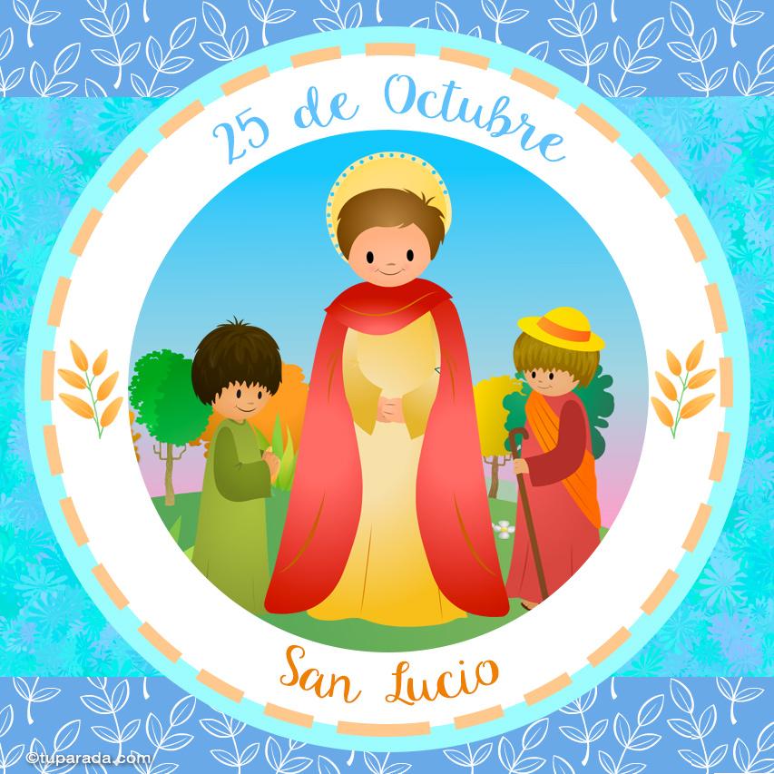Tarjeta - Día de San Lucio, 25 de octubre
