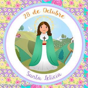 Día de Santa Leticia, 28 de octubre