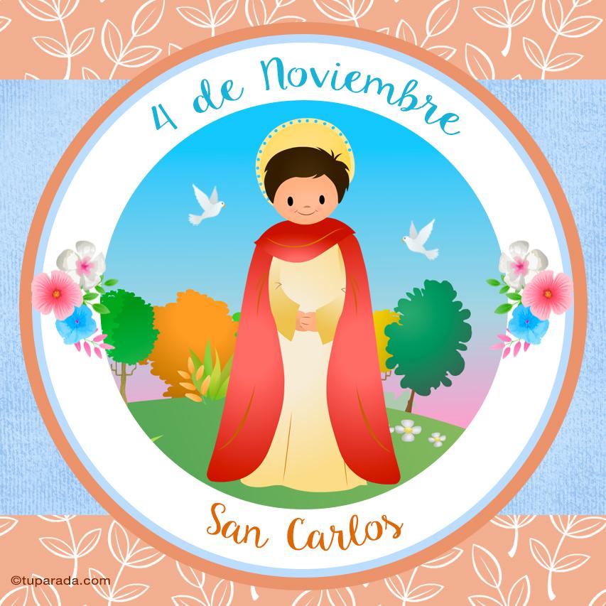 Tarjeta - Día de San Carlos, 4 de noviembre
