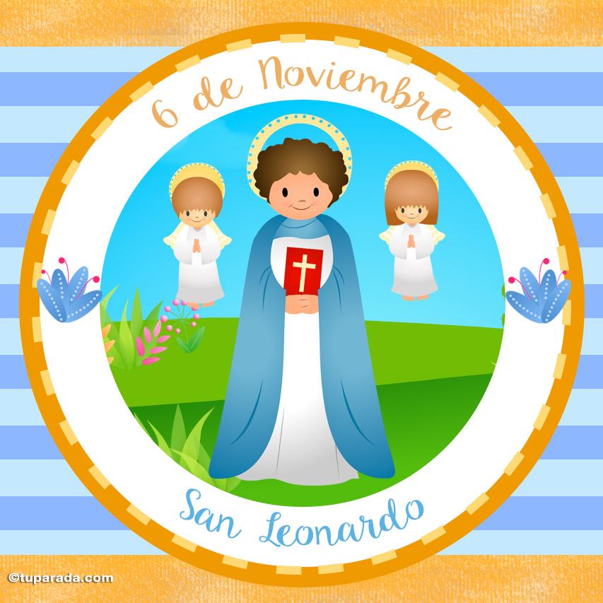 Tarjeta - Día de San Leonardo, 6 de noviembre