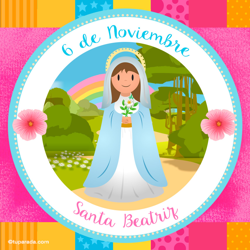 Tarjeta - Día de Santa Beatriz, 6 de noviembre