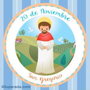Día de San Gregorio, 20 de noviembre