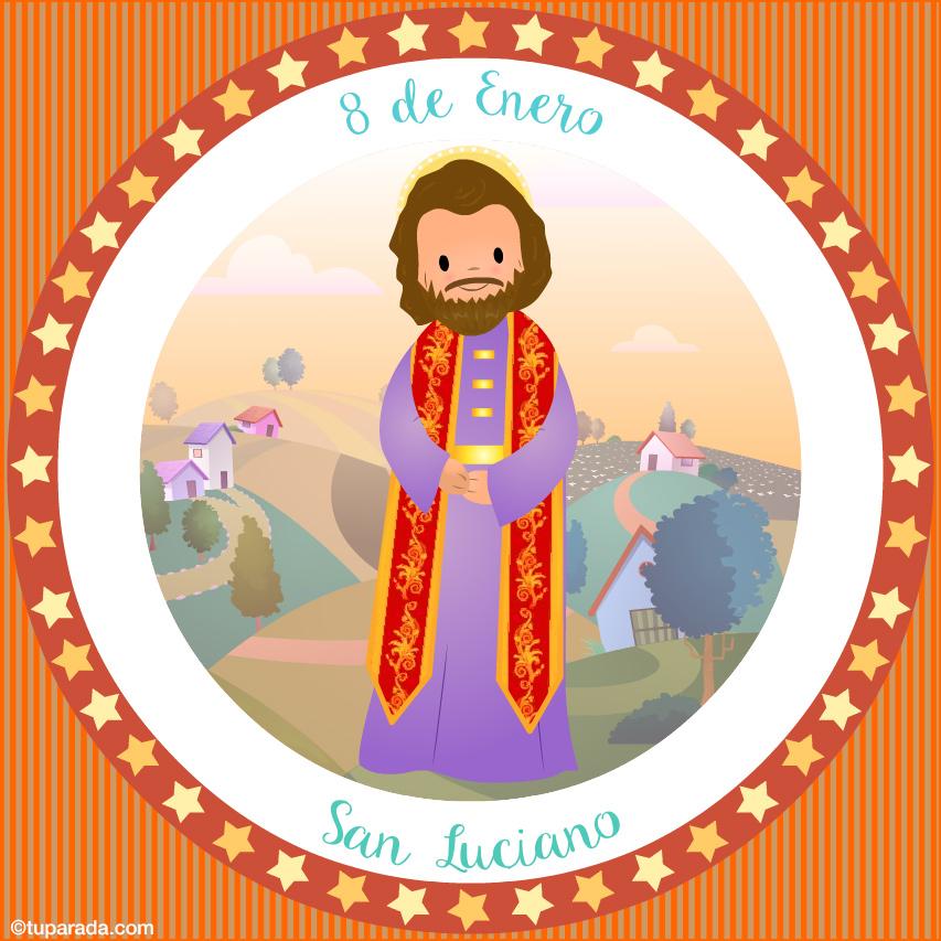 Tarjeta - Día de San Luciano, 8 de enero