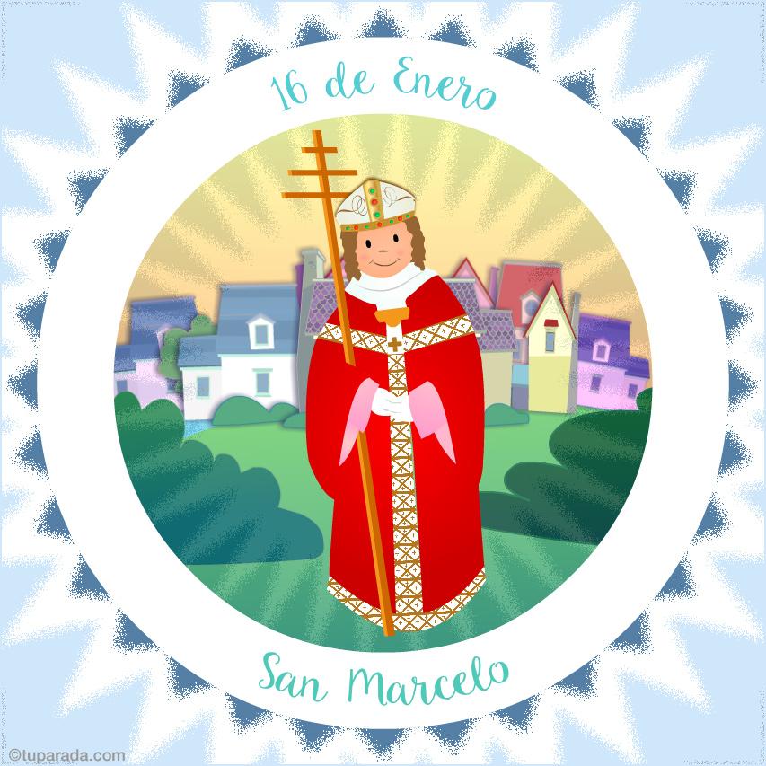 Tarjeta - Día de San Marcelo, 16 de enero