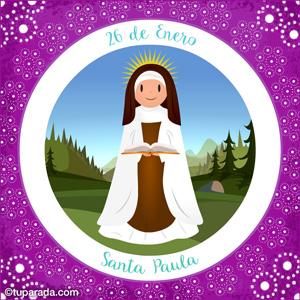 Día de Santa Paula, 26 de enero