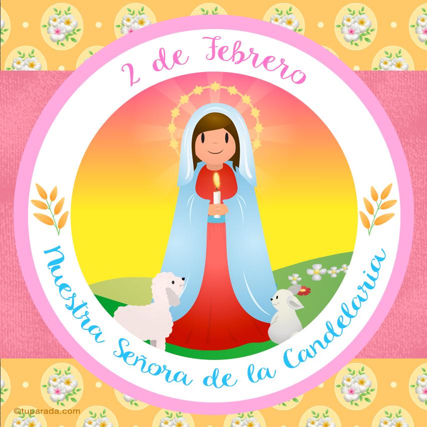 Tarjeta - Día de Nuestra Señora de la Candelaria, 2 de febrero