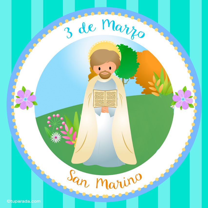 Tarjeta - Día de San Marino, 3 de marzo