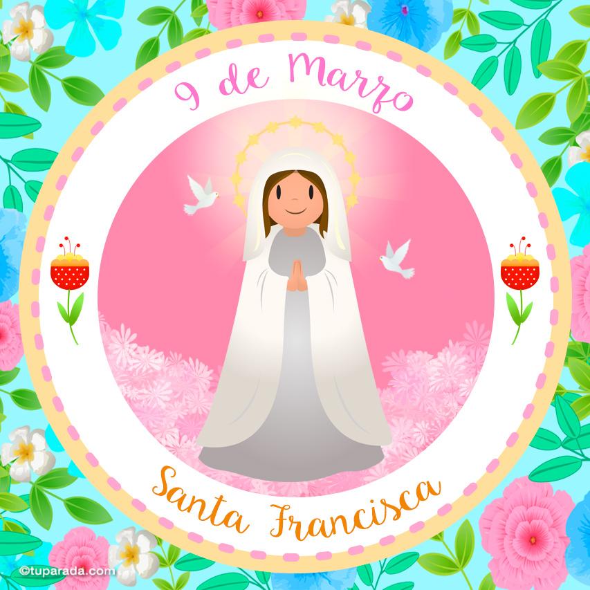Tarjeta - Día de Santa Francisca, 9 de marzo