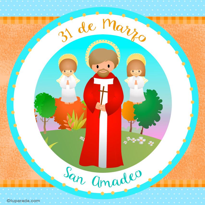 Tarjeta - Día de San Amadeo, 31 de marzo